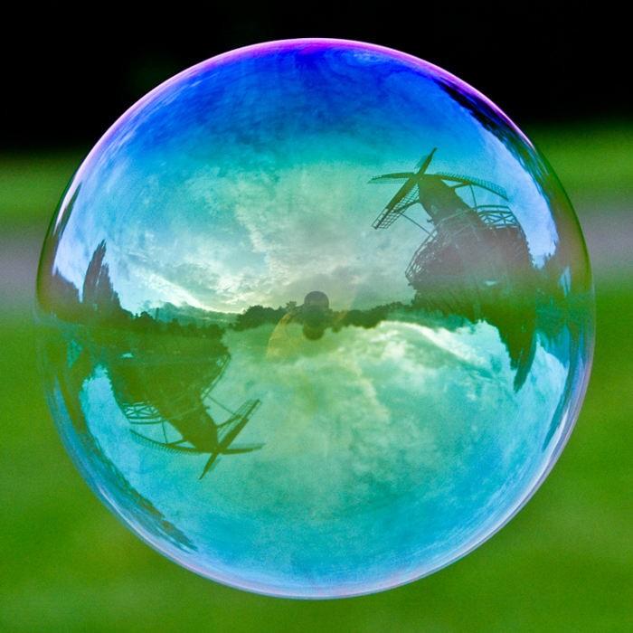 神奇的水滴摄影,泡泡中的世界