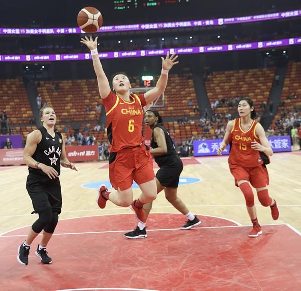 """助力时尚体育发展 """"中建集团杯""""中加国际女篮对抗赛开赛"""