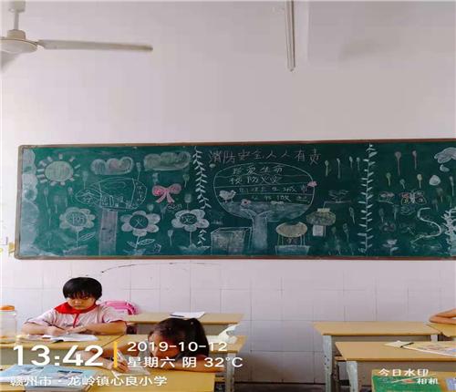 江西赣州:龙岭镇心良小学开展消防安全教育系列活动