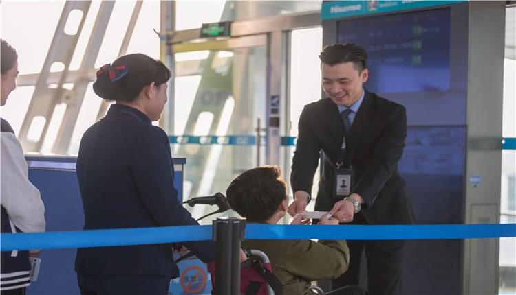 """有智慧、有温度""""   彩立方平台官网机场护航旅客春运回家路"""