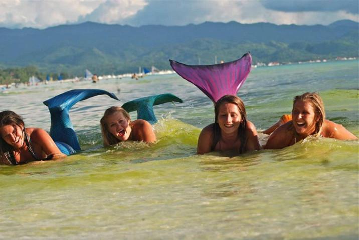 游泳学校教会你如何成为一个美人鱼--置顶表情