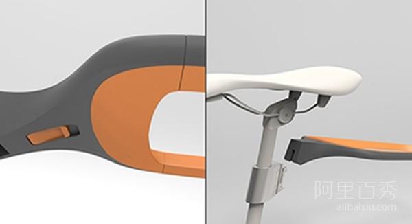 可拆卸的自行车 后座可以变大锁 再也不用担心被偷啦--置顶表情