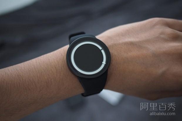 暗夜发出霓虹蓝光的ZIIIRO Eclipse手表,简约又时尚--置顶表情