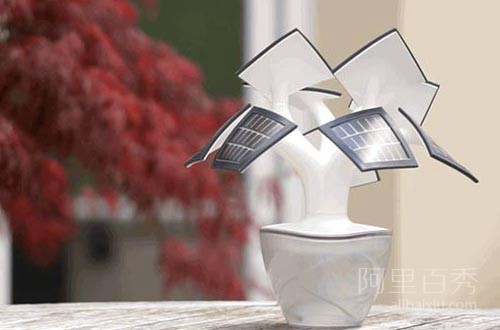会充电的树,既可以充电又可以照明,实用又美观