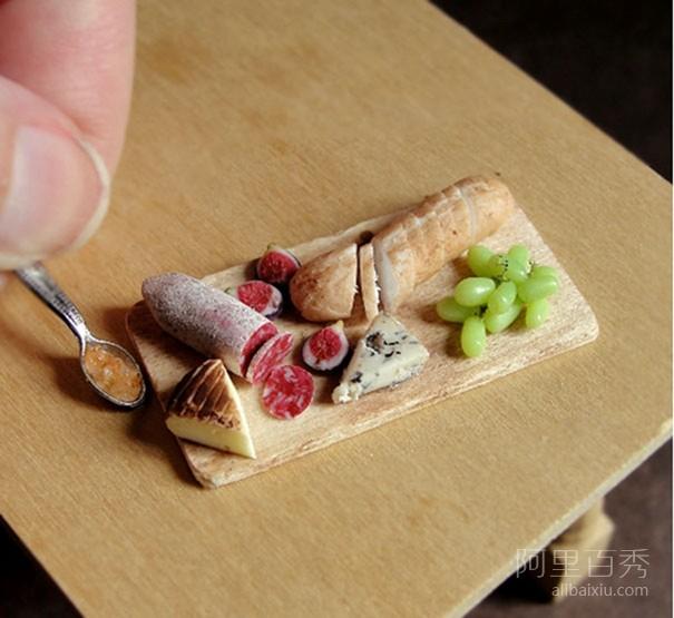 14种微型粘土食物雕塑 让人想要流口水