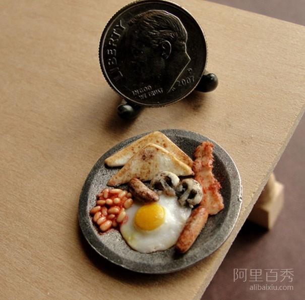 逼真的微型粘土食物雕塑 让人想要流口水--置顶表情