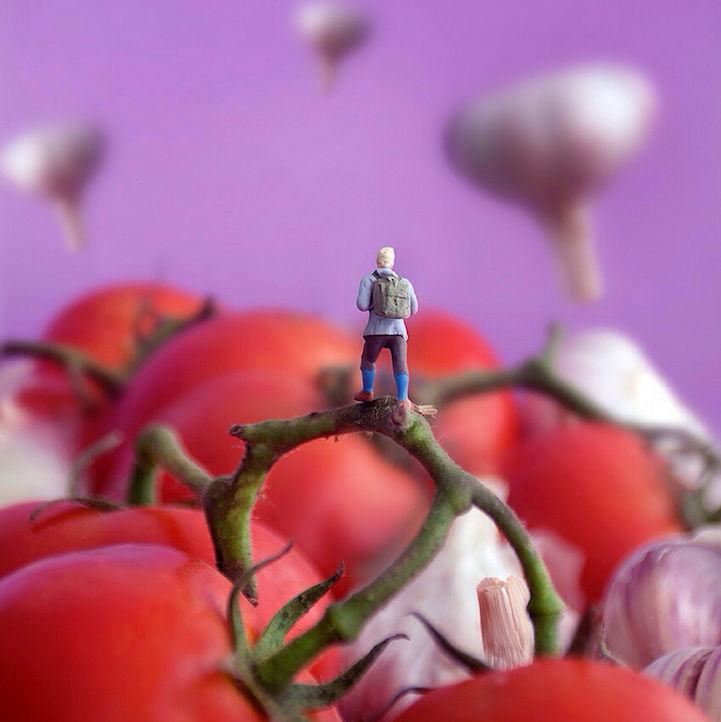 微距摄影的食物和人偶,每个都是不同的故事--置顶表情